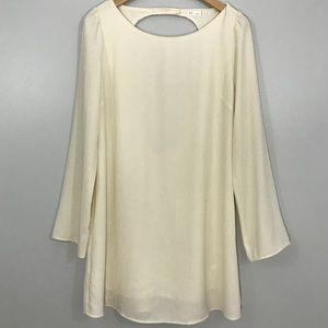UO Gentle Fawn Off White Long Sleeve Dress